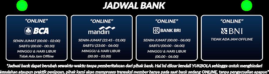 Jadwal Bank Agen Sbobet